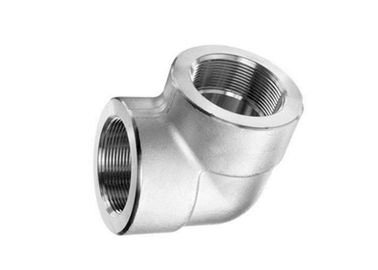 Threaded NPT Steel Pipe Elbow ASTM A182 F304 / 304L 1 Inch Size High Pressure